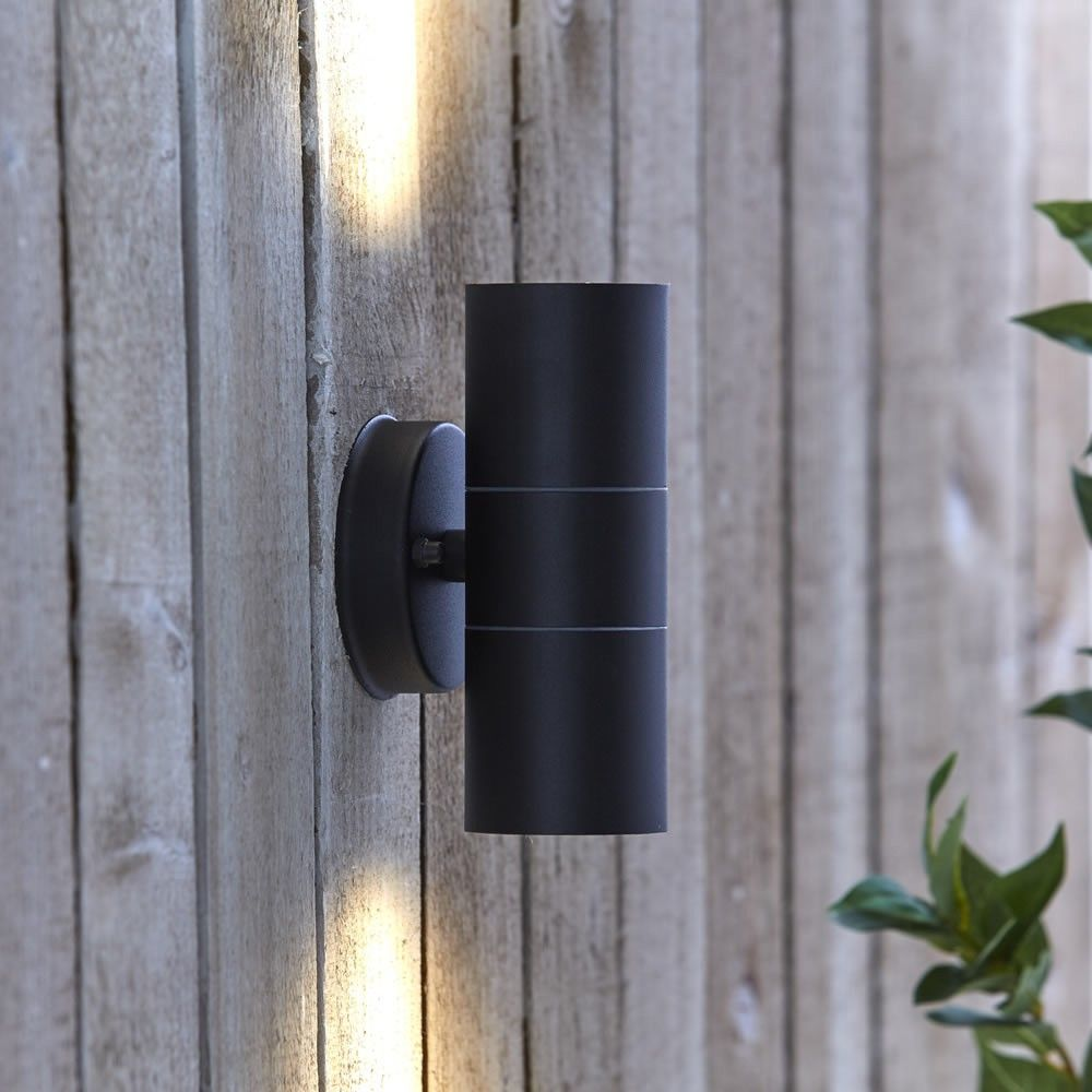 Biard le mans stainless steel updown wall light black outdoor