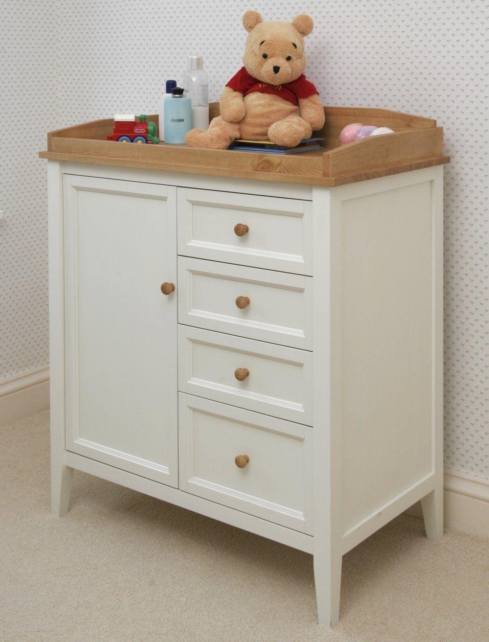 White Painted Baby Changing Chest Teddington Nursery