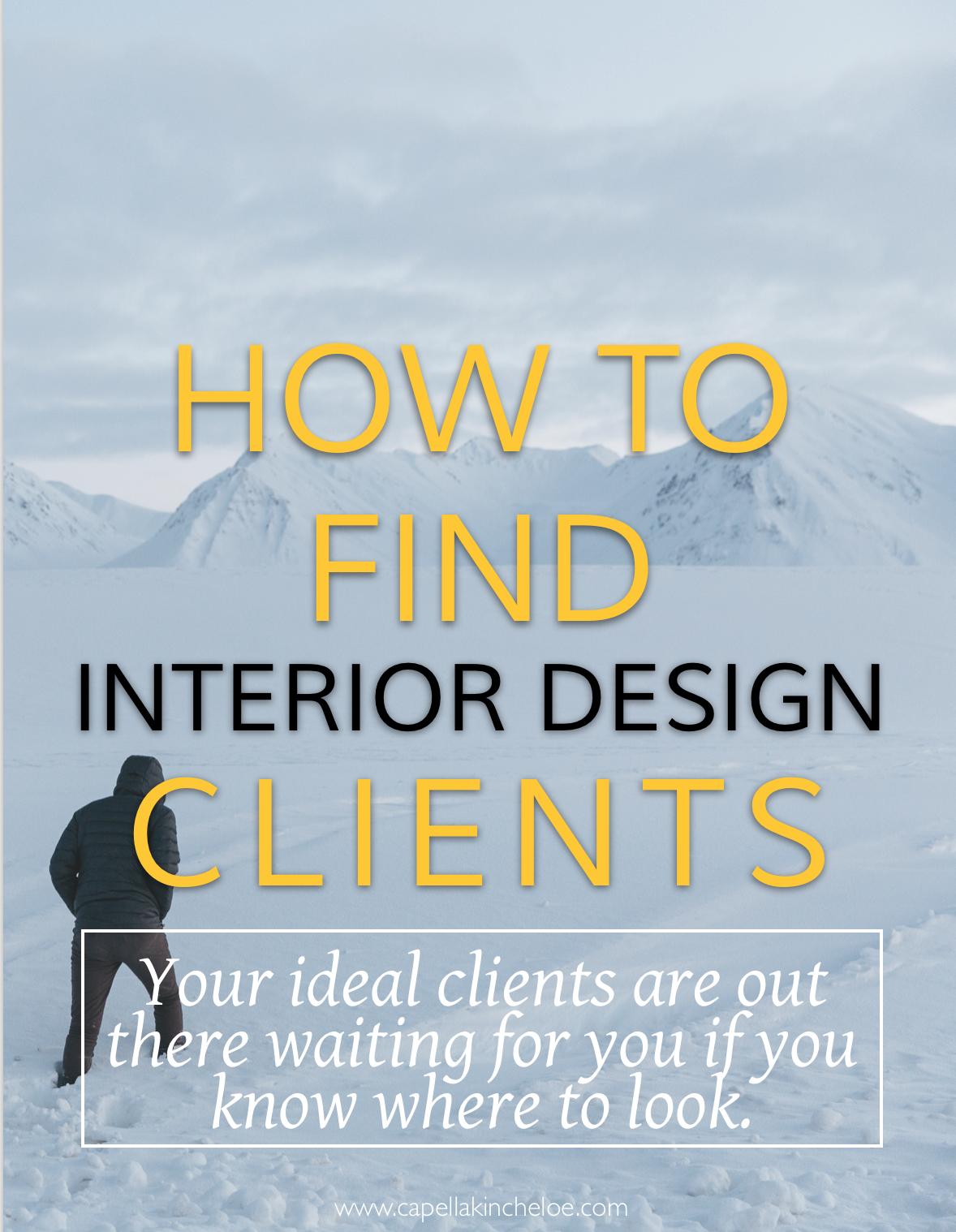 How To Find Clients Interior Design Jobs Interior Design Career