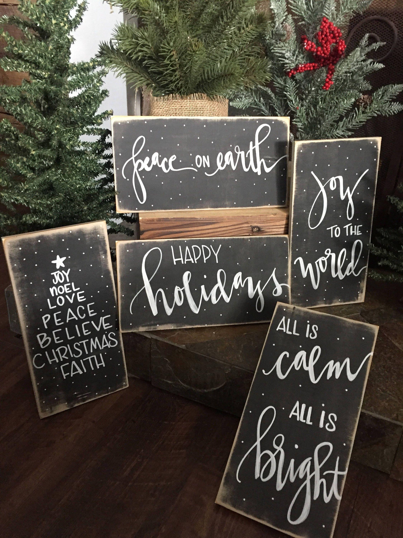 Christmas sign, mini christmas sign,rustic christm