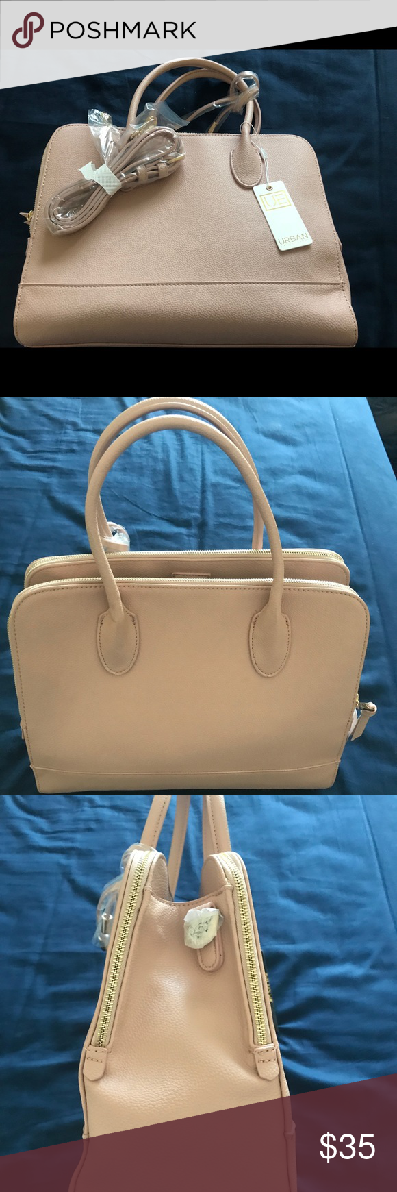 76ce31d6562 NWT Urban Expressions Oriana Double Zip Satchel This is a NWT never ...