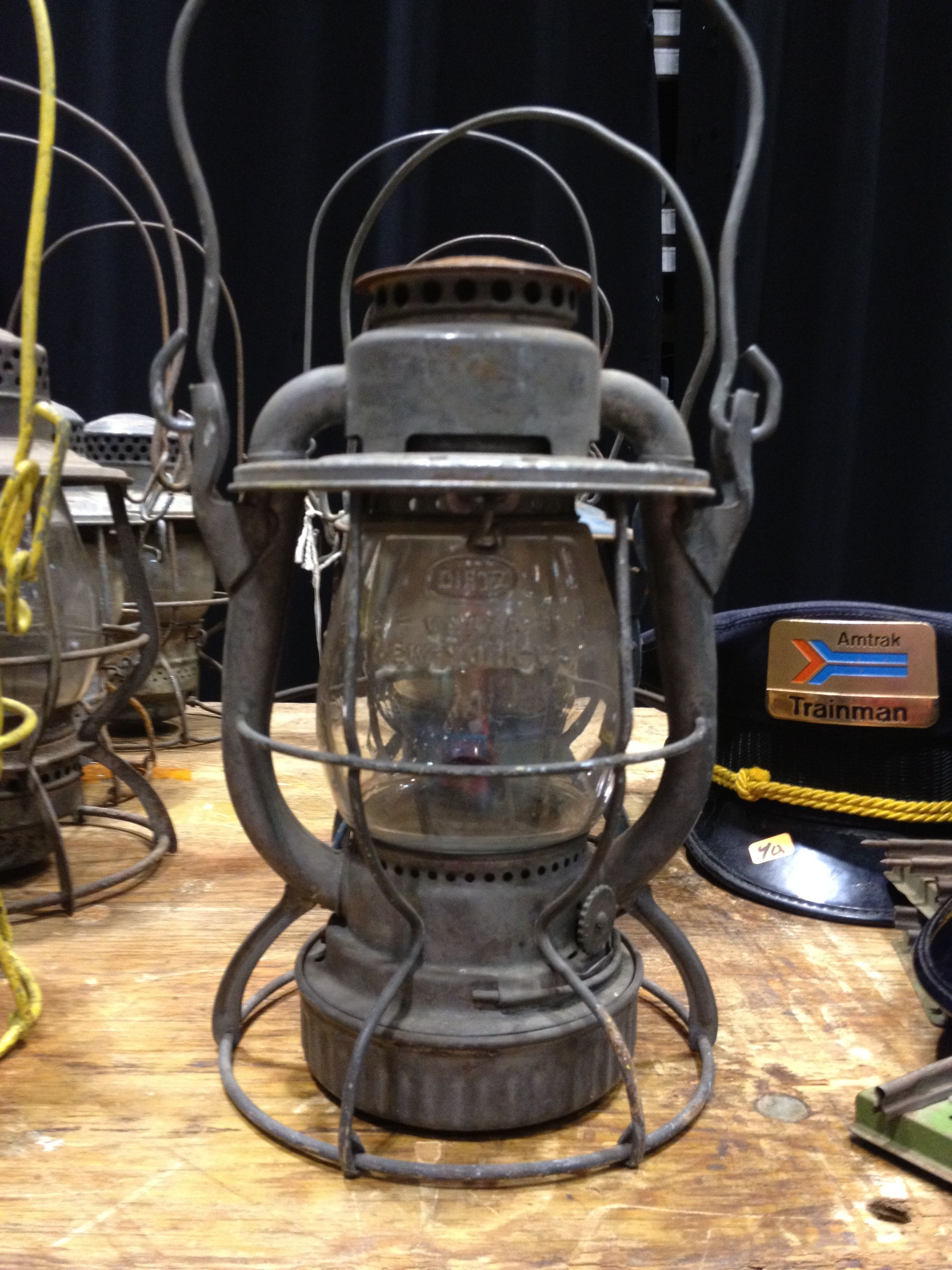 Antique train lantern centerpiece think she has any we