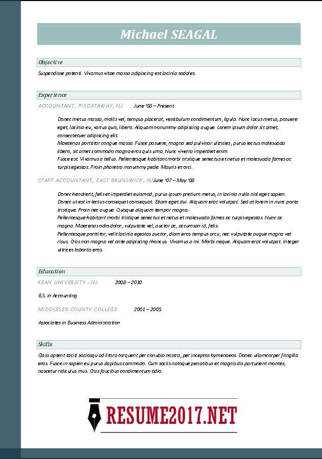 2017 Free Pinterest Resume format and Sample resume