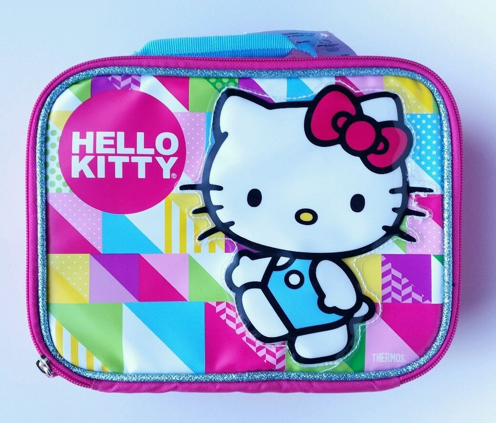 0475ce4ce New With Tags Hello Kitty Pink Rainbow Thermos Insulated School LunchBox  Soft Zipper Case in Toys & Hobbies, TV, Movie & Character Toys, Hello Kitty