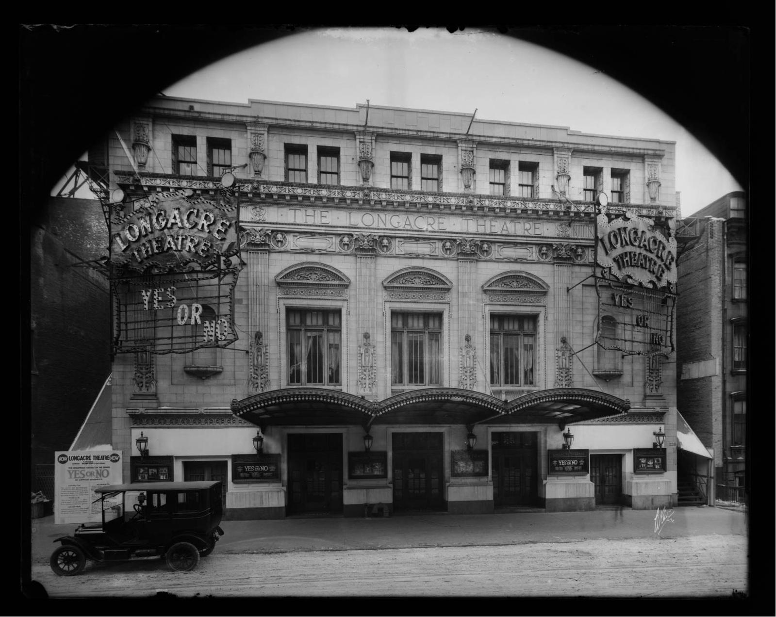 Longacre Theatre 1918 Vintage Theatre Nyc New York City