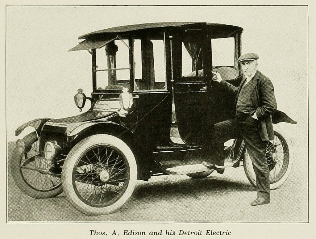 Thomas A Edison Seeing Ahead For The Electric Vehicle 1917