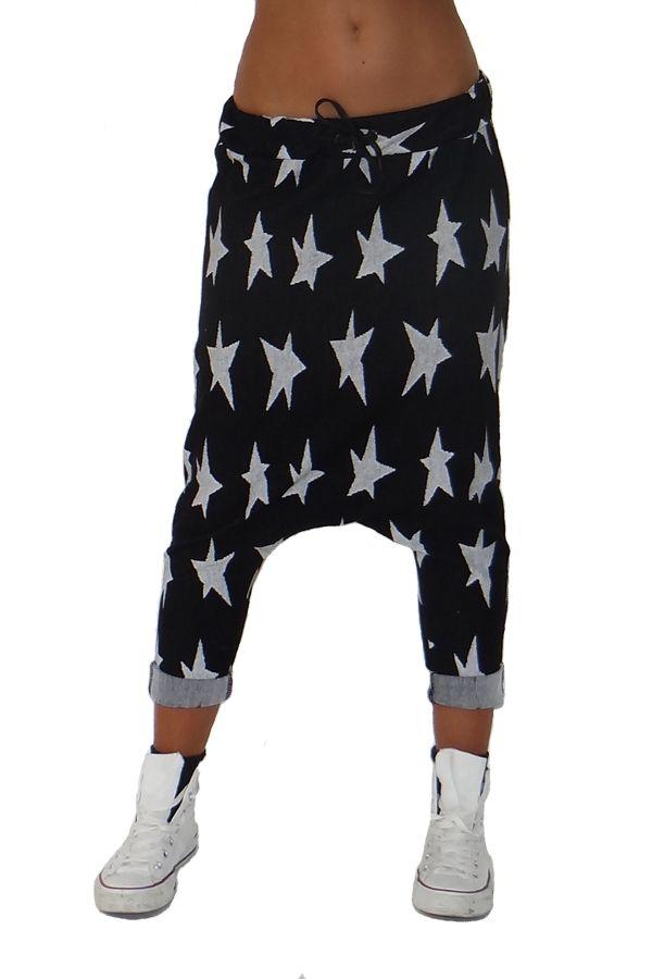 3032135591a9 Pantalone harem con stelle Wendy Trendy
