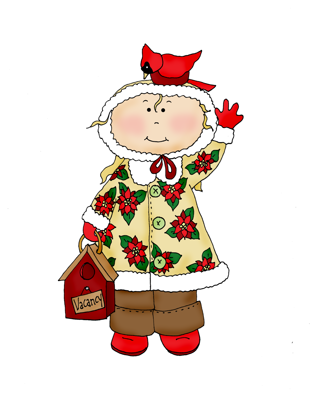 Merry Christmas In July Clipart.Free Dearie Dolls Digi Stamps Christmas Cardinal Merry