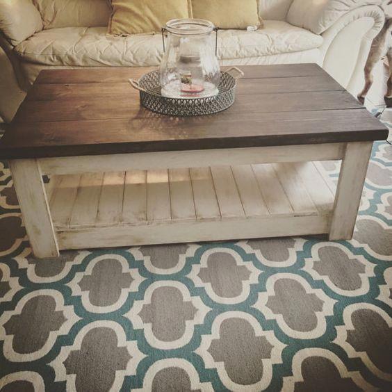 Coffee table by ThePrettyFarmhouseCo on Etsy #diykitchenideas
