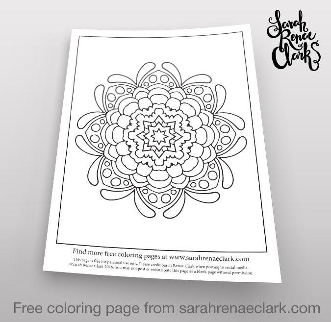 Flower Power Free Adult Coloring PagesMandala