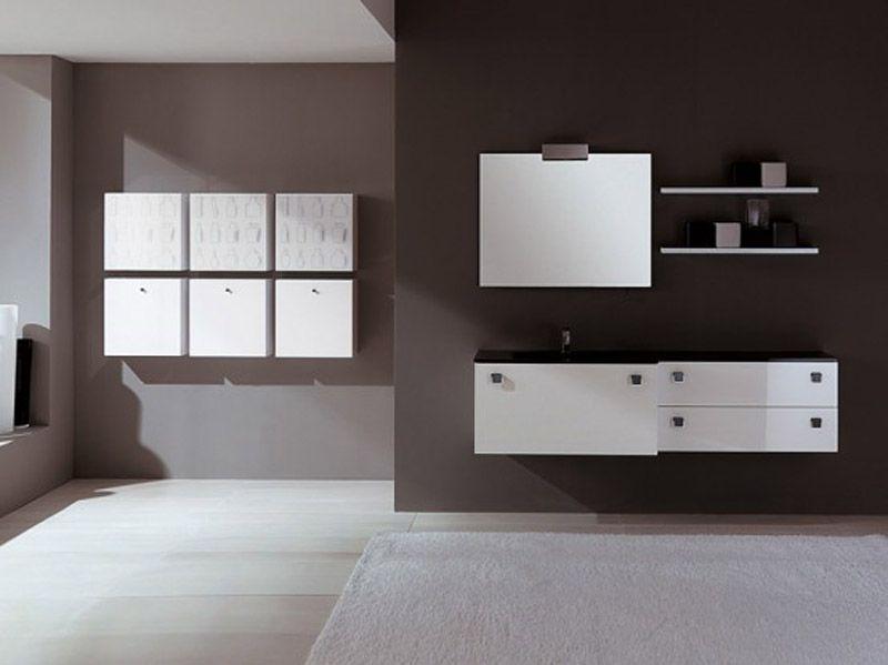 simple modern white bathroom furniture design