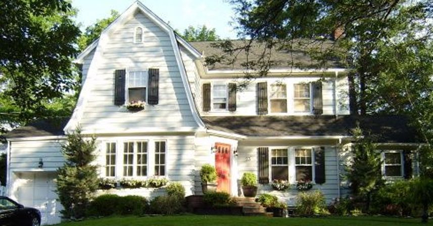 Dutch Colonial Mansard Roof Architecture In 2020 Dutch Colonial Homes Dutch Colonial Exterior Colonial House