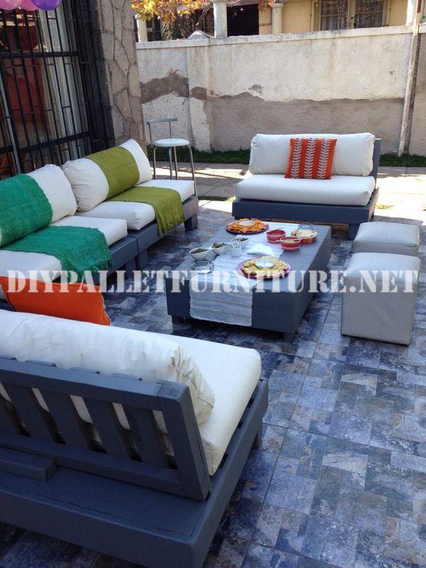 Mueblesdepalets.net: Set de muebles con palets para la terraza ...
