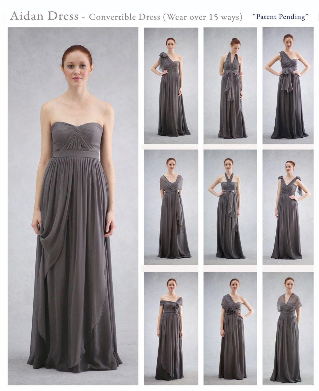 Popular+Bridesmaid+Dress+Long+Grey+Convertible | My Sister\'s Big Day ...