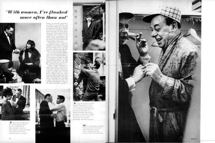 Page spreads for Frank Sinatra feature, LIFE magazine, April 23, 1965. [NOTE: This slide is best viewed in Full Screen mode