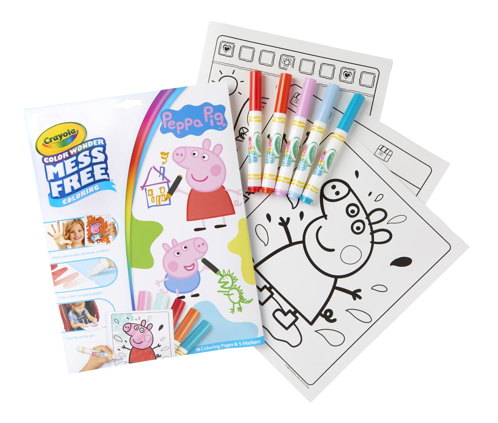 Crayola Colour Wonder Colouring Set Peppa Pig In 2020 Peppa