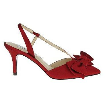Womens Nina Teddi Pump Pumps Rouge Satin Red