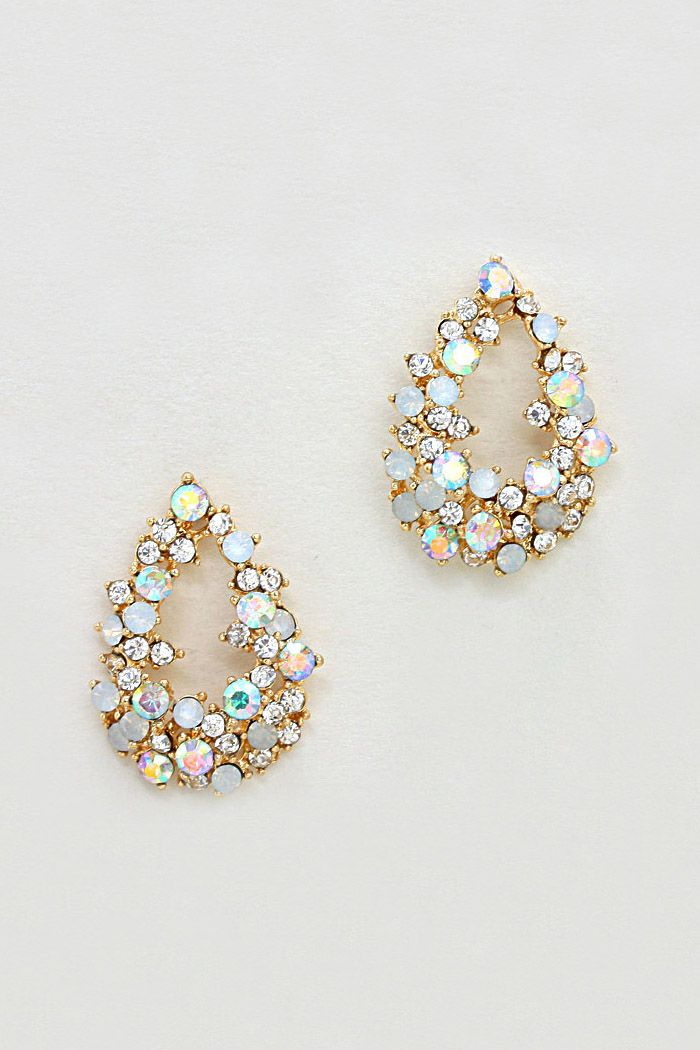 654f6faf48f7 Crystal Ellan Earrings in Gold ~ Gold earings ~