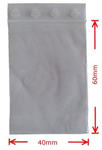 Druckverschlussbeutel 40x60mm 50� transparent