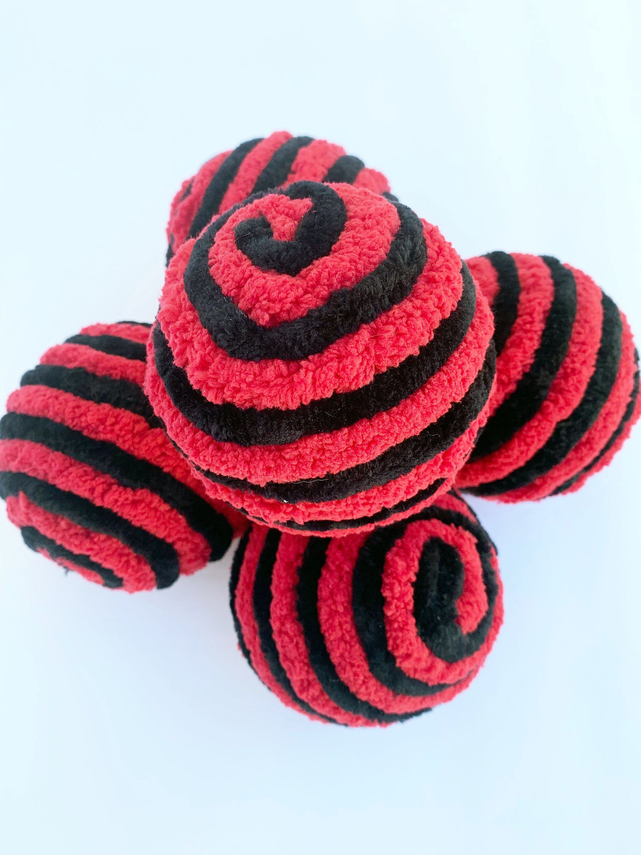 Decorative Yarn Ornament Balls Wreath Attachments Red And Black Lady Bug Decor Bowl Filler Lantern Decor Table Or Photo Props Ball Wreath Yarns Ornaments Chunky Yarn