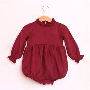 Baby Girl Rompers Solid Color Long Sleeve Baby Clothing Jumpsuits 0 24m 100 Cotton Linen Newborn Baby Girl Clothes Baby Girl Outfits Newborn Girls Rompers Baby Girl Romper