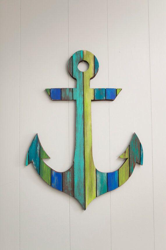Painted Anchor Wall Art Anchor Wall Art Wood Anchor Anchor Painting