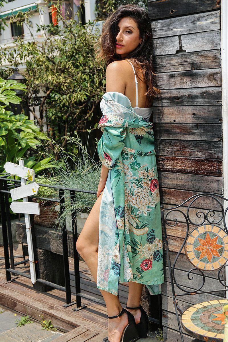 Emerald Floral Kimono
