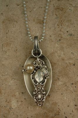 Heirloom spoon made into a necklace charm - adorable!