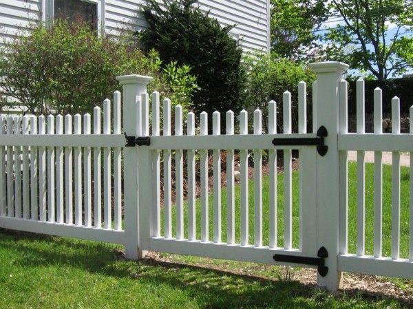 merveilleuse clôture de jardin en bois blanc | H O M E | Cloture ...