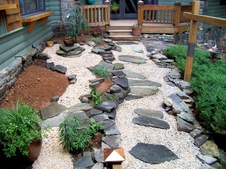 15 dreamy stone diy garden paths for your backyard - Garden Design Using Stones