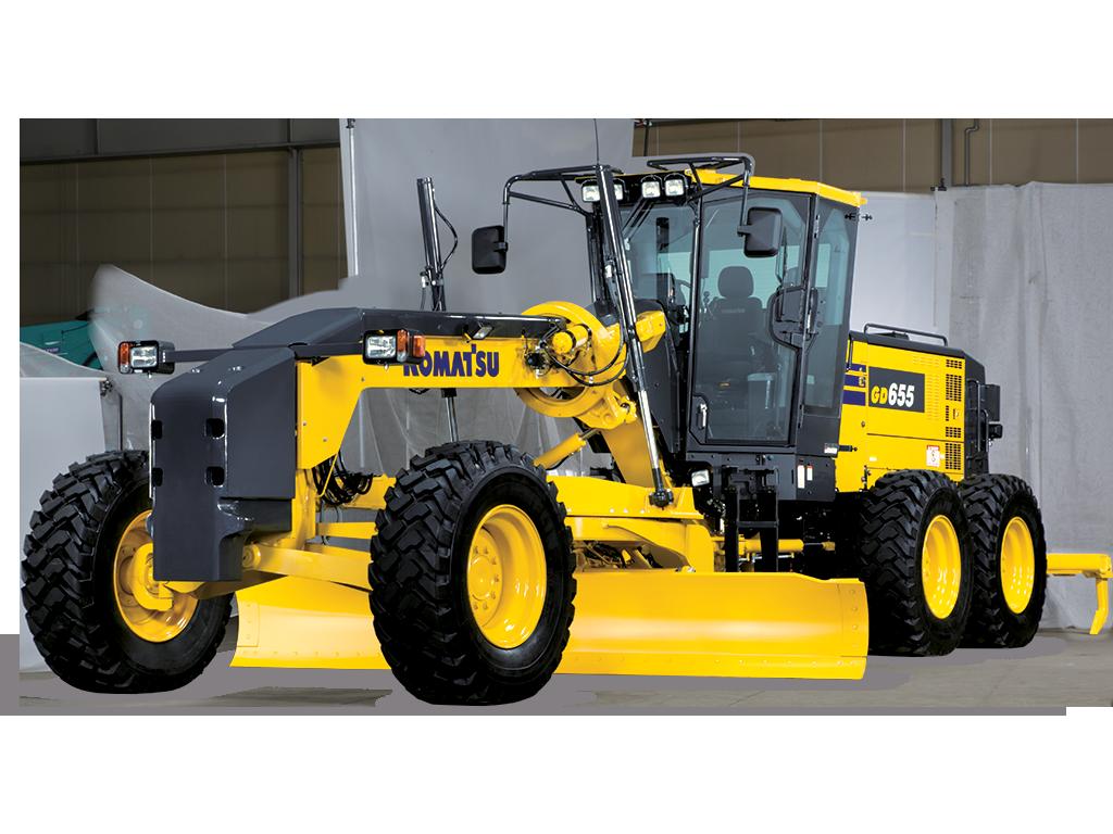 GD6556_1 Motor grader, Komatsu, Heavy equipment