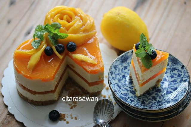 Mango Jelly Cheesecake Resipi Citarasawan Oppskrifter