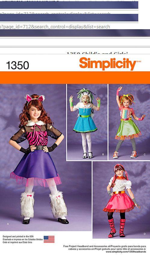 Catgirl Costume for Little Girls, Girls Costume Pattern, Kawaii ...