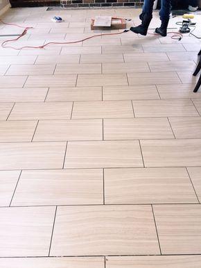 Which Direction Should You Run Your Tile Flooring Well Designed Tile Floor Patterned Floor Tiles Floor Tile Patterns Layout
