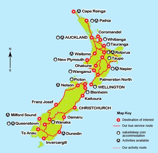 Our nakedbuscom destination map NEW ZEALAND Pinterest