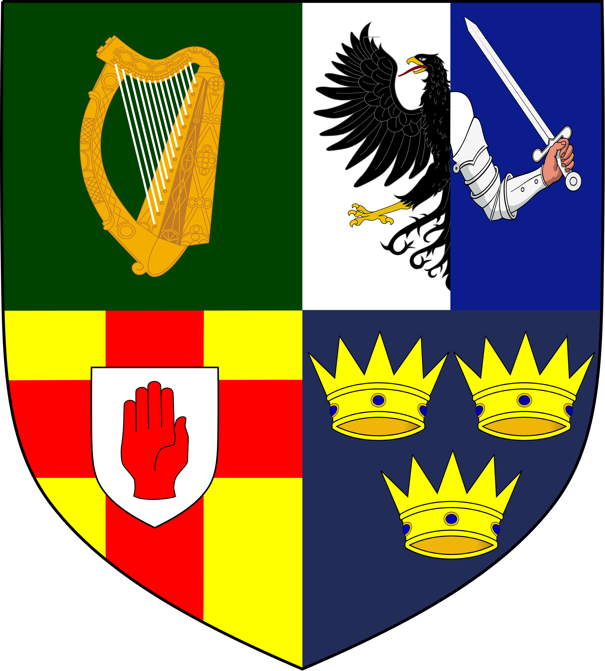 The emblem of the provinces of ireland leinster connacht ulster the emblem of the provinces of ireland leinster connacht ulster and munster buycottarizona Images