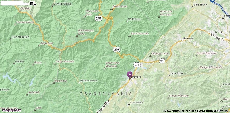 Brevard Nc Map Mapquest Places Nc Brevard My Town