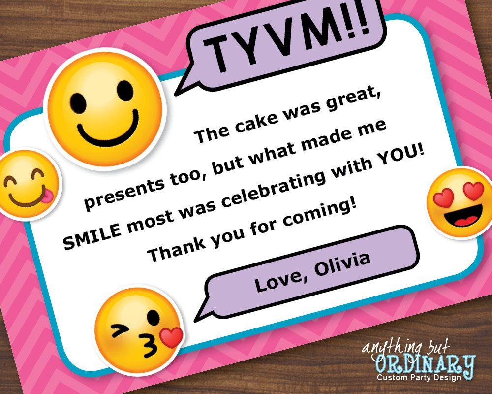 emoji thank you note printable girls emoji flat thank