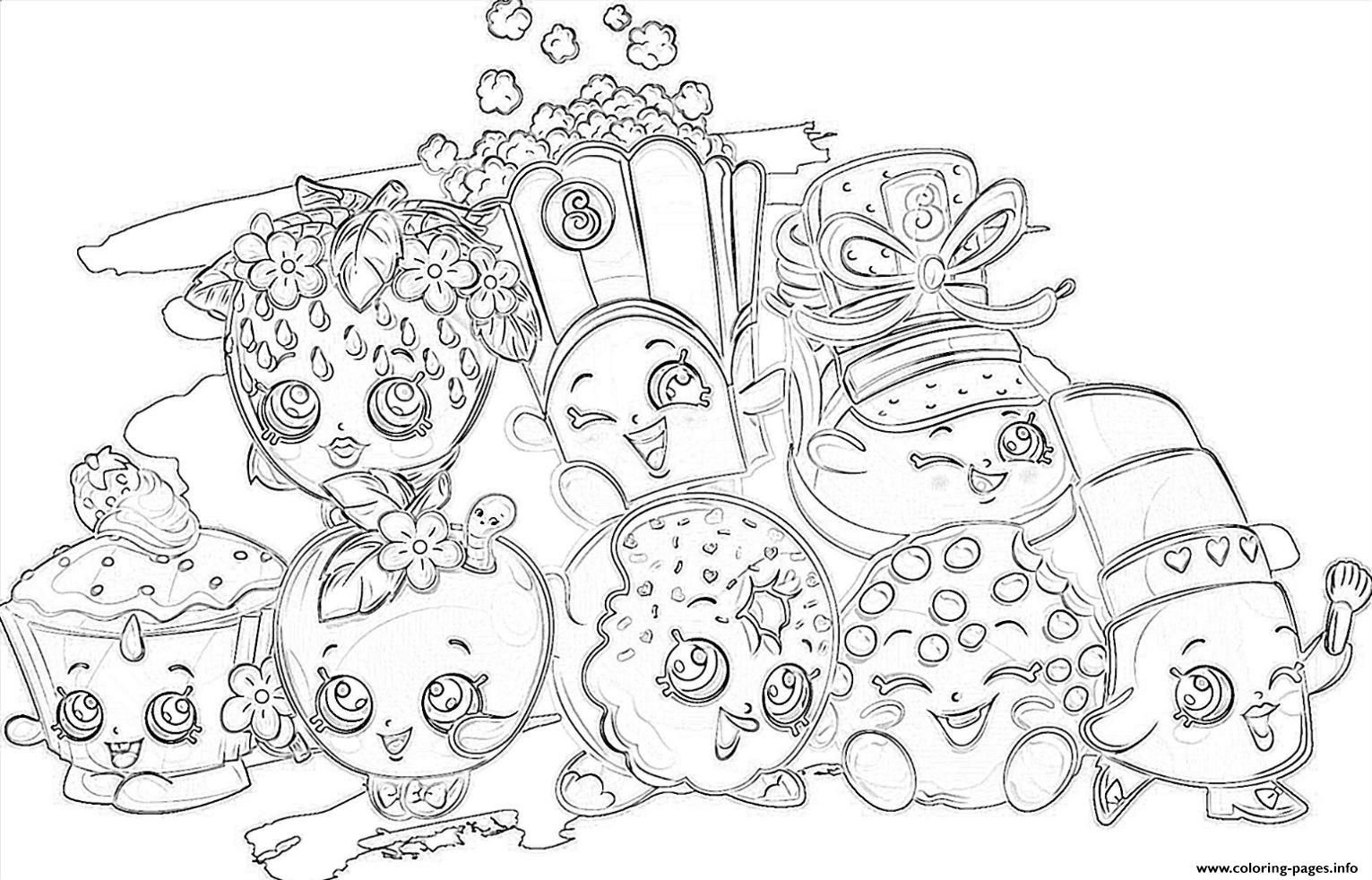 Print Shopkins All The Family Coloring Pages Family Coloring
