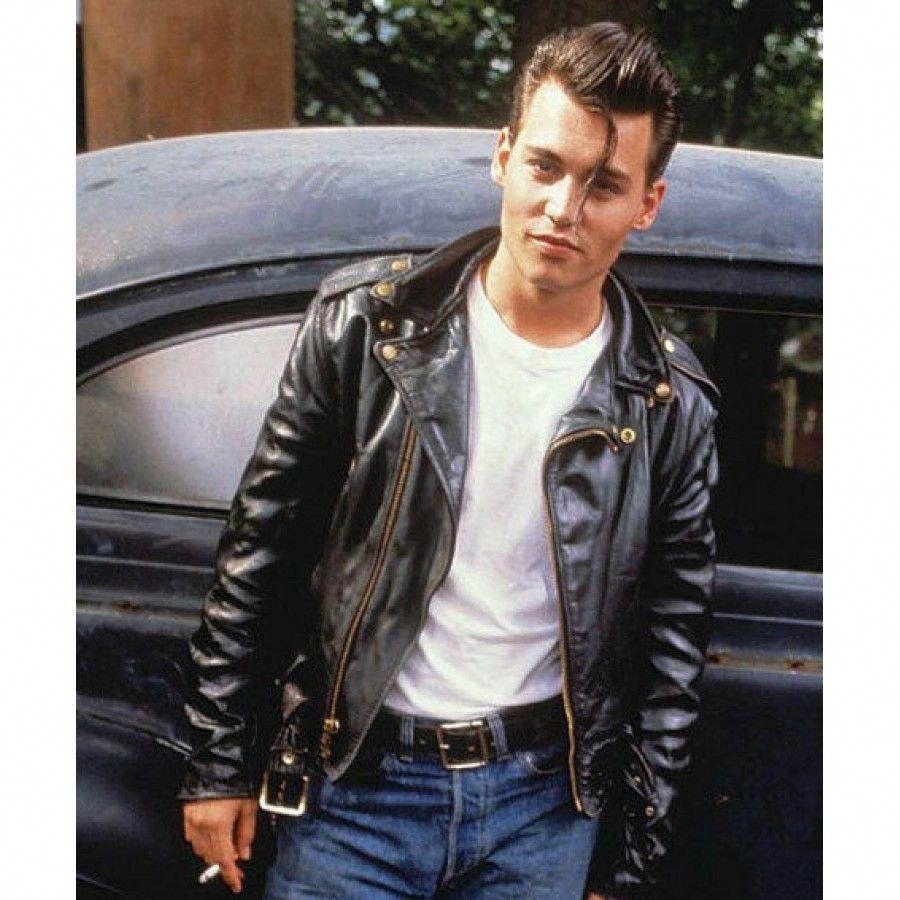 Johnny Depp Cry Baby Jacket Mensfashionhipster Leather Jacket Baby Leather Jacket Cargo Jacket Mens