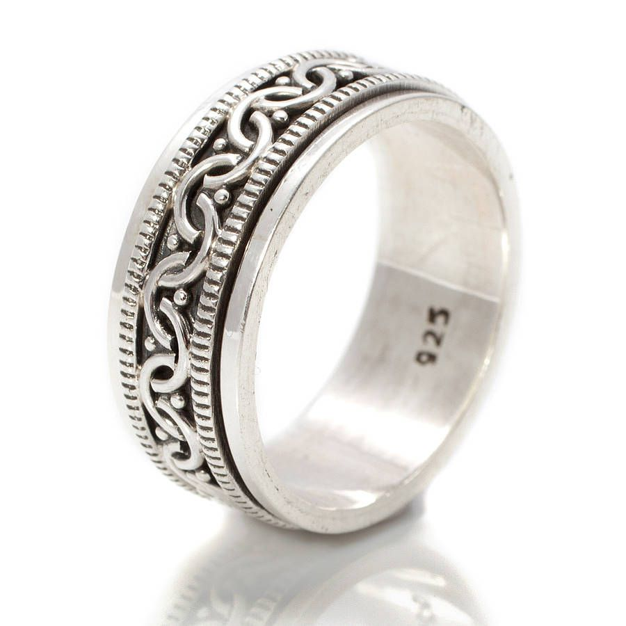 Celtic Bravery Spinning Ring | Sterling silver, Ring and Jewlery