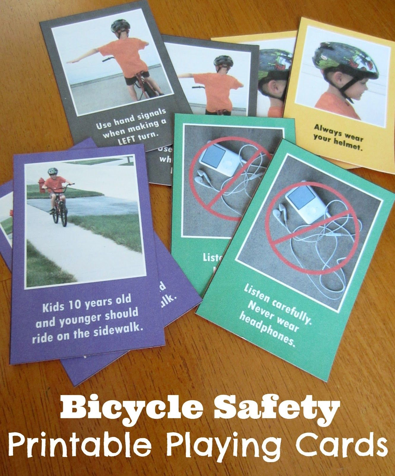 Relentlessly Fun Deceptively Educational Printable Bicycle Safety Playing Cards