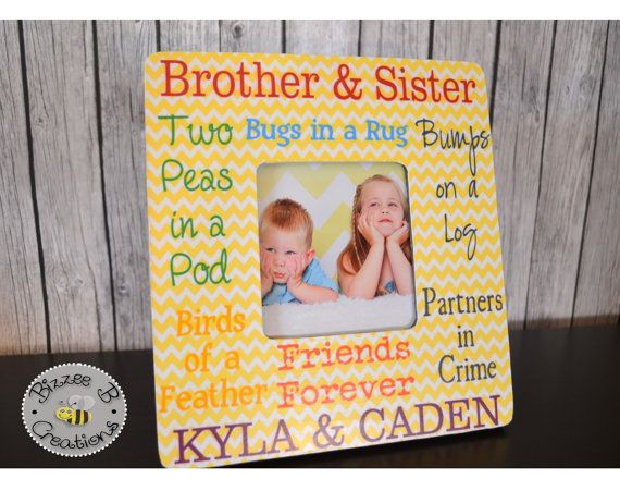 ON SALE Siblings Picture Frame Brother & Sister Frame | photo frames ...