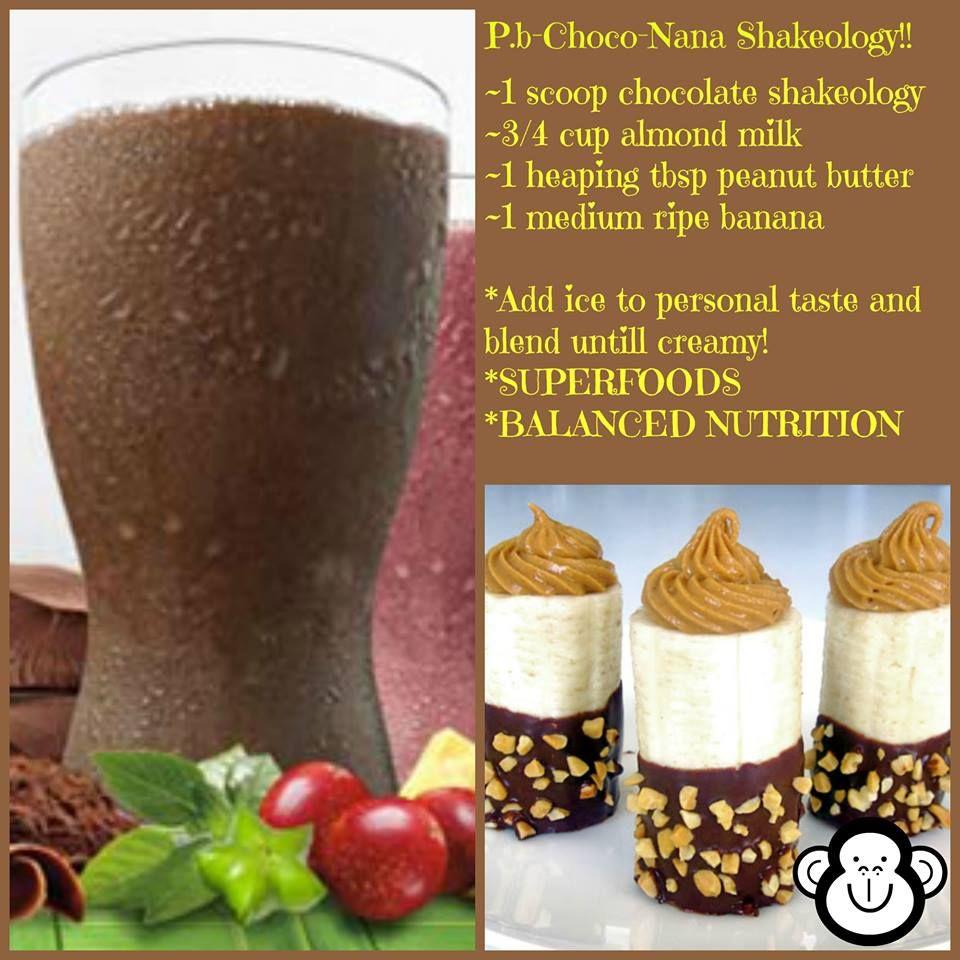 Peanut Butter Chocolate Banana Shakeology Recipe ~ Beachbody's ...