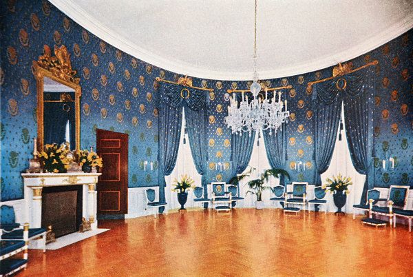 The Blue Room Before And After Renovation Truman Library And