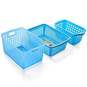 coloridas cestas de almacenamiento de plástic... – USD $ 10.89