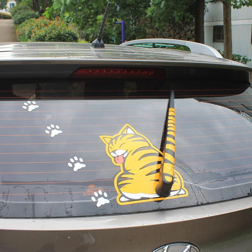 Sticker Cat On Car Car Stickers Vinyl Car Stickers Cat Tail [ 1000 x 1000 Pixel ]