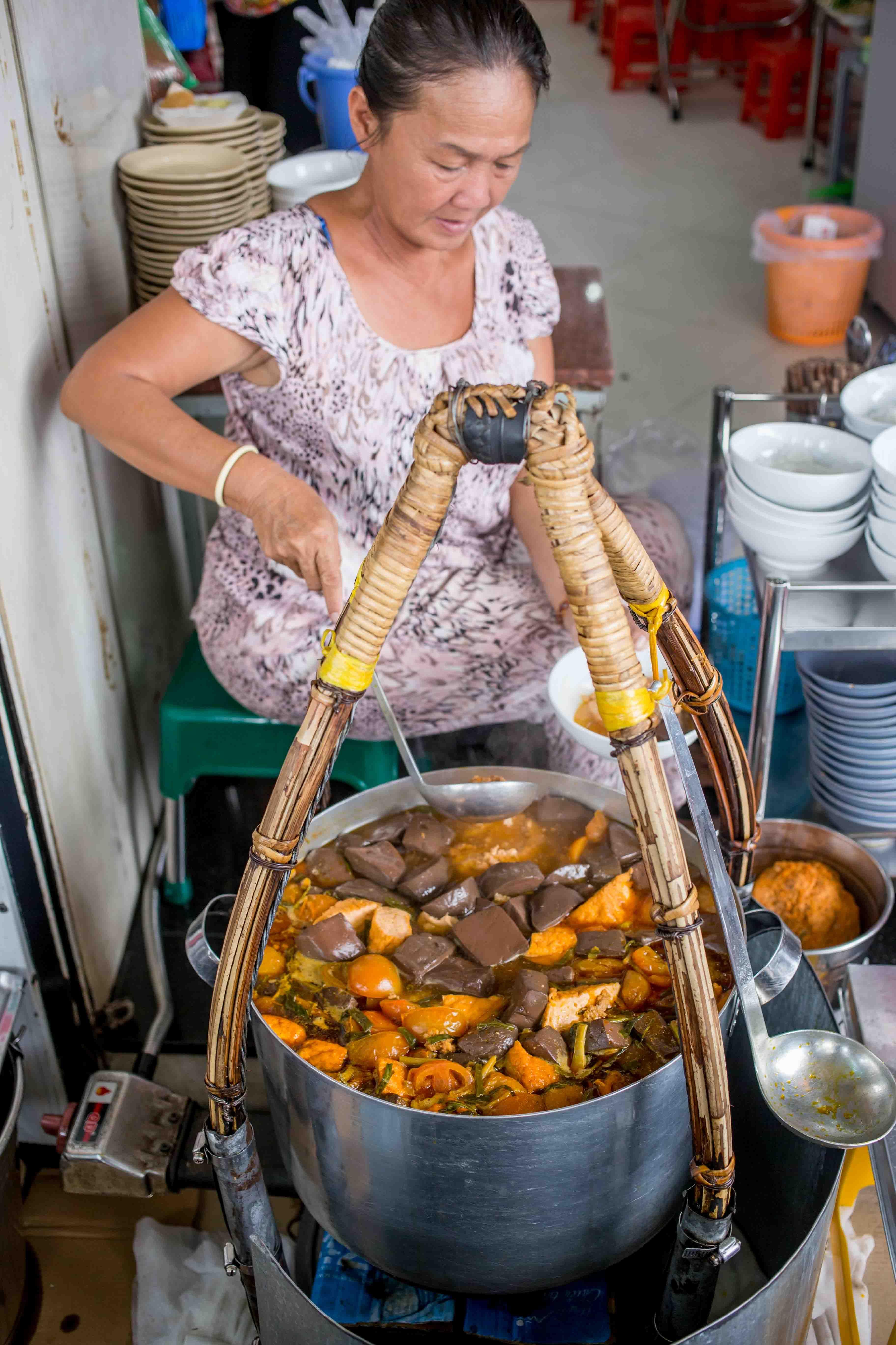 An indepth look at bun rieu crab noodle soup in saigon