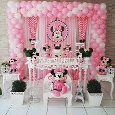 Resultado De Imagem Para Decoracao Festa Infantil Minnie Rosa