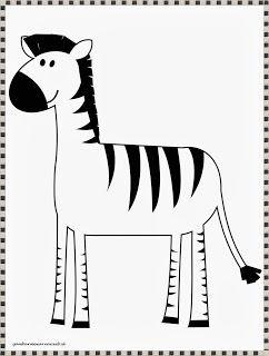 Gambar Zebra Untuk Mewarnai Zebra Warna Gambar